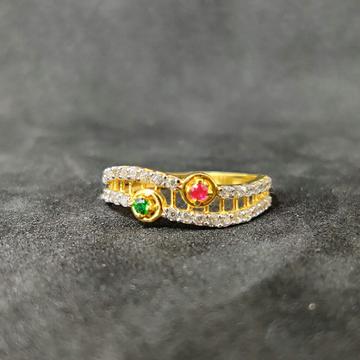 22k Ladies Fancy Gold Ring-17028