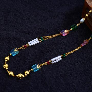 Ladies 916 Gold Fancy Moti Chain Mala-AC81
