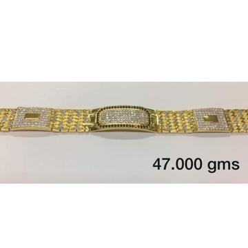 22 carat gold gents diamond fancy bracelet rH-bT201