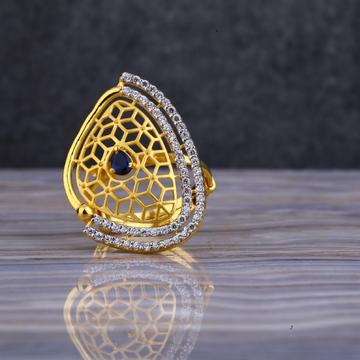 22kt Gold Designer Cz Ring LLR107