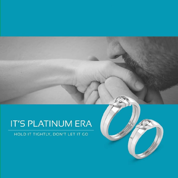 950 Platinum Divine union Couple ring For Unisex