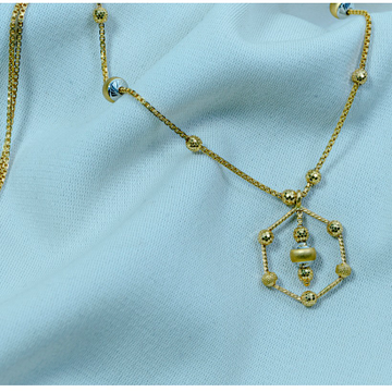 22KT Gold Attractive Pendant Chain DK-124 by