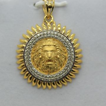 22k /916 executive gents chain pendant