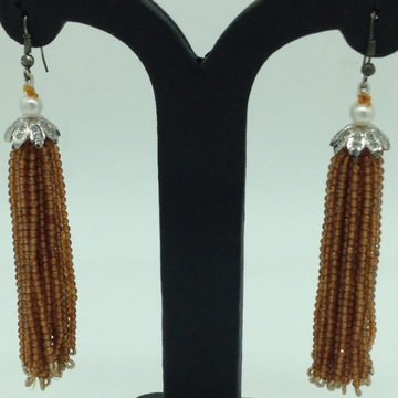 Golden Citrine Stones Ear Chandelier HangingsJER0...