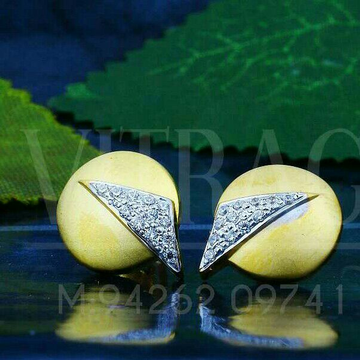 18kt Precious Plain Cz Gold Ladies Tops ATG -0233