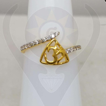 22KT Gold Attractive Om Design Ring  by Parshwa Jewellers