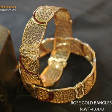 18kt Rose gold bangles