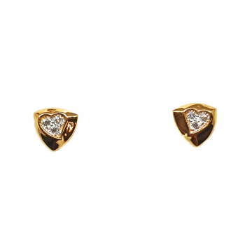 22K Gold Heart Shaped Earrings MGA - BTG0407