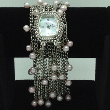 Freshwater Pink Round Pearls Chain Watch JBG0221
