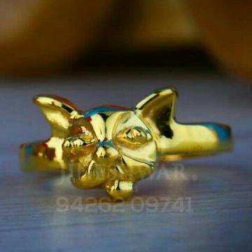 916 Plain Gold Baccha Ring