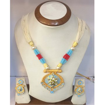 22Kt Gold Colorful Necklace Set RH-N005