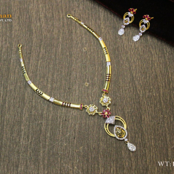 22ct fancy cz dokiya +set with butti by