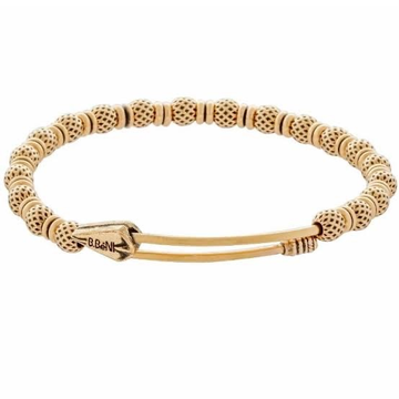 22kt, 916 Hall-marked round textured ball's pattern Yellow Gold Bracelet For Men and women JKB068