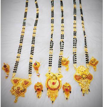 Gold mangalsutr antique piece by