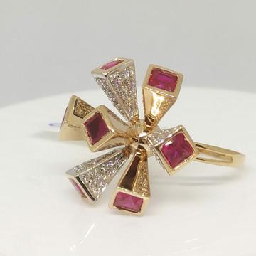 18 kt Rose Gold Fancy LR Ring by