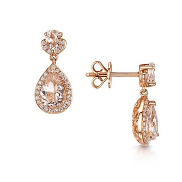 22kt, 916 Hm, Yellow Gold fancy earrings with diamonds Jke106.