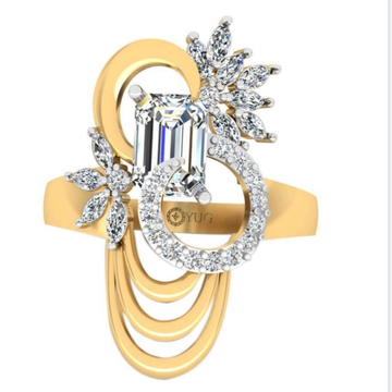 center colour stone cz ring