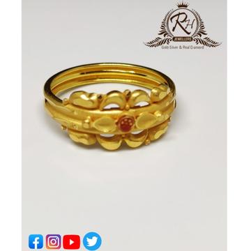 22 carat gold plain casting ladies rings RH-LR301