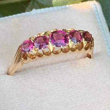 916 Gold Rubi Ring RH-LR004