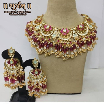 Jadtar necklace elwith earrings 1812