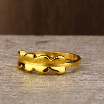 Ladies 916 Gold Delicate CZ Ring -LPR138