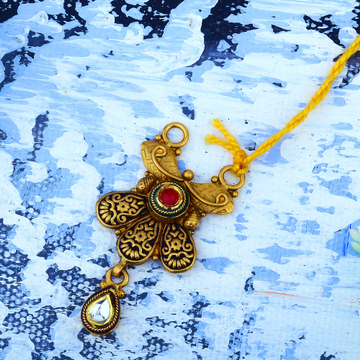 916 Gold Antique Jadtar Pendant JAP-024