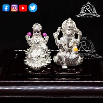 silver laxmi ganesh murti for diwali pooja and gift rH-LG1033