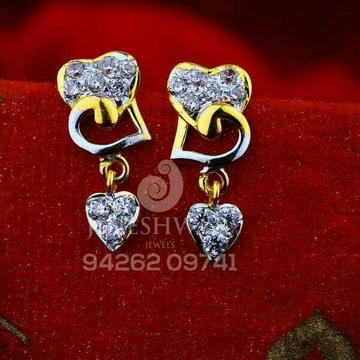 18kt Fancy Cz Gold Ladies Tops ATG -0482