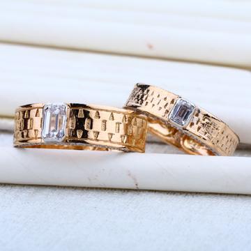 Rose Gold Engagement Designer 18K Couple Ring-RCR13