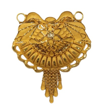 22k YELLOW Gold Double Kunda Pendent by