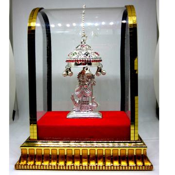 Silver Aai Shri Khodiyar Maa Statue with Chattar by