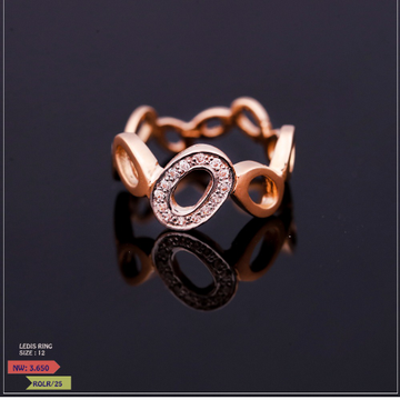 ROSE GOLD LADIES CZ RING