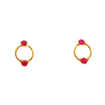 22K Gold Fancy Pink Diamond Earrings MGA - BTG0054