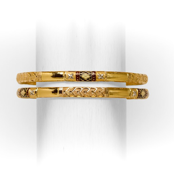 22 KT SINGLE PIPE COPPER BANGLE by