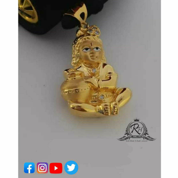 22 Carat Gold Krishna Pendants RH-GP495