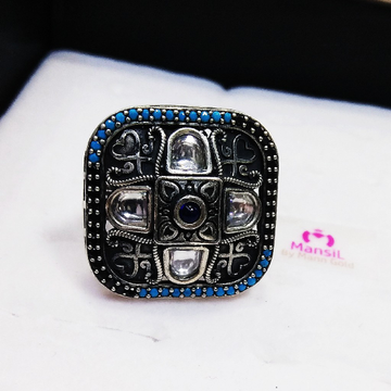 92.5 sterling silver designer antique ring ML-73