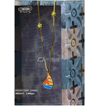 18 carat gold Kids chain pendent stimber icg0028 by
