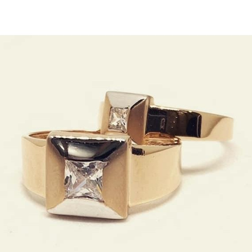 18kt Rose Gold Couple Ring RH-cPR 007