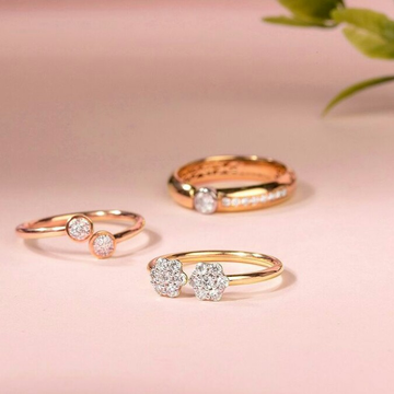 18kt Rose Gold and Diamond Rind For women by