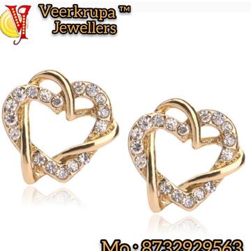 916 gold heart sape earrings by