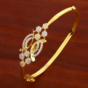 18KT Ladies Gold Delicate Kada Bracelet LKB147