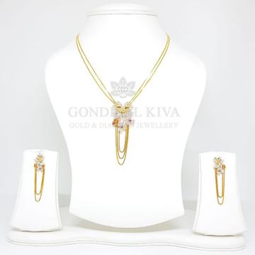 18kt gold pendant set gchp1 - gft14