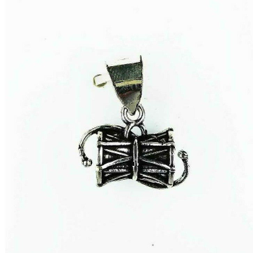 Fancy 925 Silver Ladies Pendant With Damru Shape
