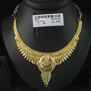 22Kt Gold Kalkatti Necklace Set by