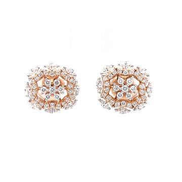 Seven diamond stud with fancy bracket in vvs quali...