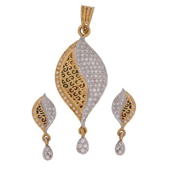 22KT Gold Attractive Pendant Set