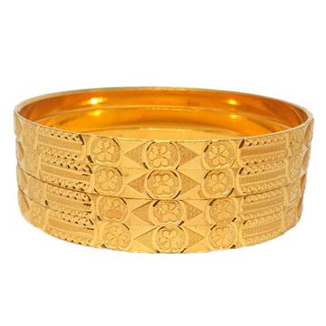 One gram gold forming plain bangles mga - bge0402