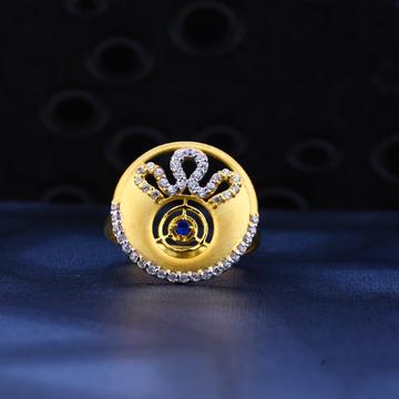 916 Gold Designer Cz Ring LR23