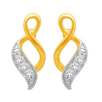 18k gold real diamond fancy earring mga - rde001