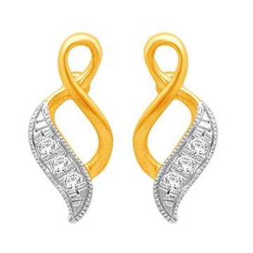 18k gold real diamond fancy earring mga - rde001